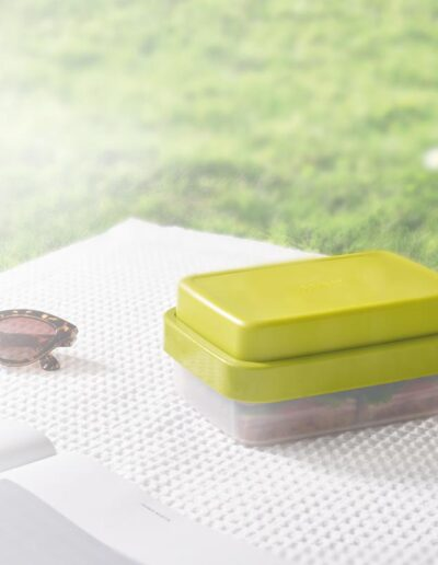 GoEat Compact 2-in-1 lunch box - Green