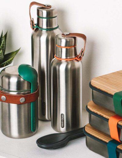 Black+Blum zestaw kolekcja stalowych pojemników nalunch