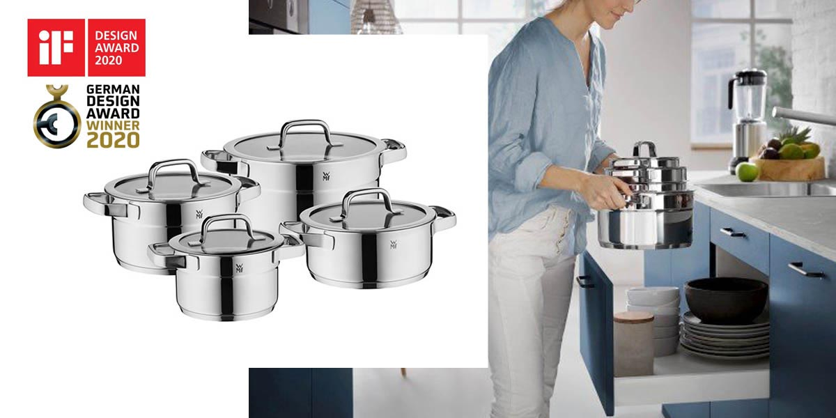 Komplet naczyn kuchennych Compact Cuisine if Design Award and German Design Award 2020