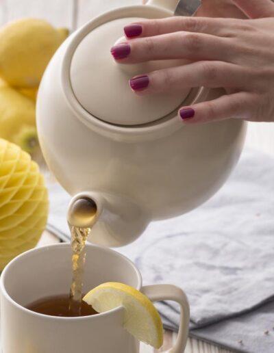 Imbryk doparzenia herbaty Price Kensington kremowy