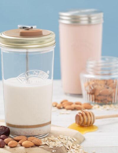 Naczynia dodomowego mleka roślinnego - zestaw 2 słoików Kilner